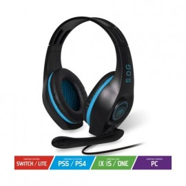 Auriculares Gaming con Micrófono Spirit of Gamer PRO-H5/ Azul