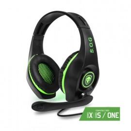 Auriculares Gaming con Micrófono Spirit of Gamer PRO-XH5/ Verde